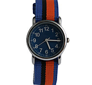 Novel Fashion Nylon Multi Color Piece With  Child Watch