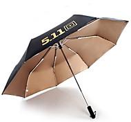 511 Black Fiberglass Windproof Umbrella Automatic Opening And Closing Umbrellas Umbrella Folding Three Folding Umbrella