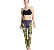 Sportivo Per donna Compressione Yoga Pantaloni Giallo