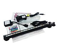31cm RGB-LED-Aquariumlicht mit Luftblase Fernbedienung 18LEDs Farbwechsel flexibel uns Adapter ac100-240v Stecker