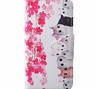 Kitten Pattern PU Material New High-End Card Holder Phone Case For Samsung Galaxy J3 (2016) J5 J5 (2016)