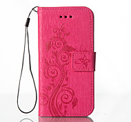 Embossed Leather Wallet for Samsung Galaxy Grand Prime