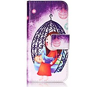 Girl Strong Relief Colored Card Holder PU Material Leather for  iPhone 7 6s  SE 5s 5