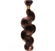 100g / pc человеческие волосы тела 10-18inch коричневые каштановые пианино colo человеческие волосы переплетаются
