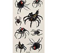 1 Tatuajes Adhesivos Series de Animal spider flash de tatuaje Los tatuajes temporales