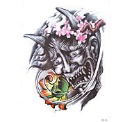 1pc Scary Lotus Flower Demon Devil Picture Design Tattoo Temporary Women Men Body Art Tattoo Sticker Decal HB-256