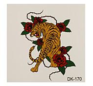 1 Tatuajes Adhesivos Series de Animal tiger flash de tatuaje Los tatuajes temporales