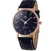 Ladies' Fashion Simple Design Wrist Quartz Watch with Leather Strap
