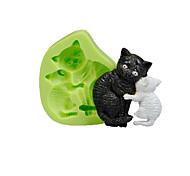 Кошка мать силикон выпечка плесень помада торт украшение сахара инструменты инструменты полимер глина фимо сделать цвет случайных