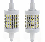 2 x R7S 5W 72 SMD 4014 78mm LED Warm White Cool White Corn Light Lamp Bulb AC85-265V