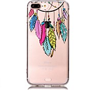 Pour iphone 7plus / iphone 7 dream catcher transparent tpu silicone pour iphone 6 plus / iphone 6