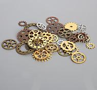 beadia 50g aassorted estilos encanto de la aleación metálica rueda de engranaje