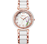 WEIQIN® Women's Brand Flower Rhinestone Round dial Fashion Watches Women Rose Gold White Quartz-watch