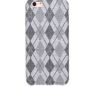 Quilted Pattern Cloth and PU Material Slim Combo Phone Case for iPhone   6S  6 Plus