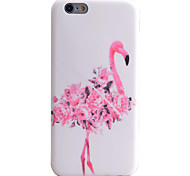 Flamingo Flowers Pattern IMD Technology Phone Case TPU Material For iPhone 6s 6 Plus