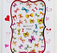 1 Nail Art Sticker Adesivi 3D unghie Astratto / Adorabile makeup Cosmetic Nail Art Design