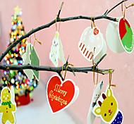 14pcs/lot  Christmas Hangings Drawing  Christmas Card Christmas Gift Christmas Tree Decoration