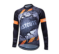 Fastcute® Cycling Jersey Women's / Men's / Unisex Long Sleeve BikeBreathable / Quick Dry / Front Zipper / YKK Zipper / Reflective Strips