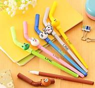 Cartoon Straw Modeling Neutral Pen(1PC)