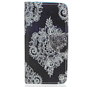 PU Leather Material Lace Flower Pattern Painted Phone Sets for Samsung Galaxy J510 J5 J310 J3
