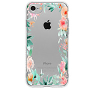 Для Кейс для iPhone 7 / Кейс для iPhone 7 Plus / Кейс для iPhone 6 С узором Кейс для Задняя крышка Кейс для Цветы Мягкий TPU для Apple