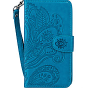 PU Leather Material Embossed Peacock Flower Pattern Mobile Phone Cases for Samsung Galaxy J510/J310