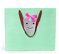 Green Transparent Love Smiling Face Gift Bag and Fresh Hot Stamping Carrier Bags