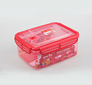 Food Grade Picnic Plastic Food Container with Lid 1.7Liter