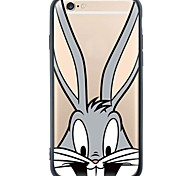 Cartoon Rabbit Device Back Cover Dustproof/Pattern Soft TPU and Acrylic Capa for  iPhone 6s Plus/6 Plus/6s/6/SE/5s/5
