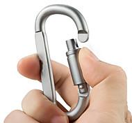 Aluminum Alloy D Shape Carabiner Screw Lock Bottle Hook Buckle Hanging Padlock Key Chain Camping Hiking