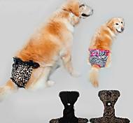 Собака Брюки Одежда для собак На каждый день Леопардовый принт Цвет отправляется в случайном порядке