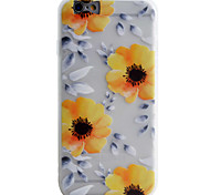 Over Four Yellow Pattern Simple Matte Material TPU Phone Case For iPhone 6s 6 Plus SE 5s 5