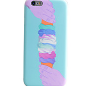 Ice Cream Pattern IMD Technology Phone Case TPU Material For iPhone 6s 6 Plus