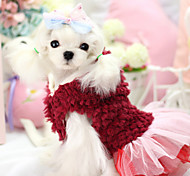 Dog Hoodie / Dress Red / Purple Dog Clothes Winter Floral / Botanical Keep Warm / Fashion