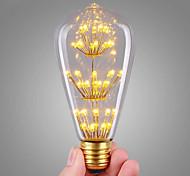 3W LED лампы накаливания ST64 47 COB 360 lm Тёплый белый Декоративная AC 220-240 V 1 шт. E27