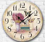 1PC European Style Pastoral Horologe Retro Clock (Pattern is Random)