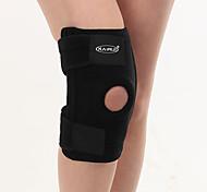 Men Black Synthetic Running Knee Brace
