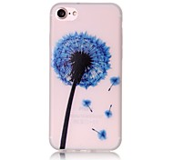 Glow in the Dark Blue Dandelion Pattern Embossed TPU Material Phone Case for  iPhone 7 7 Plus 6s 6 Plus SE 5s 5