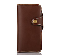 Leather Grain Wallet Genuine Leather TPU Case For Iphone7 IPhone7 Plus With Photo Frame Card Slots