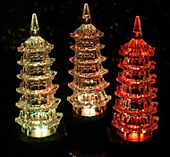 Colorful Exquisite Crystal Pagoda Led Night Light Flash Gifts