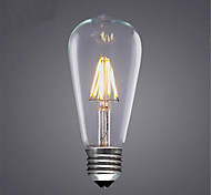 ST64 6W LED Energy-Saving Decorative Imitation Retro Incandescent Light Bulbs