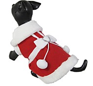 Dog Christmas Clothes New 2016 Lovely Santa's Costume for Dogs Puppies Clothing (Assorted Sizes)