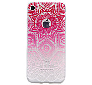 TPU Material Pink Flowers Pattern Stained Phone Case for iPhone 7Plus 7 6sPlus 6 Plus 6s 6 SE 5s 5