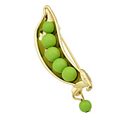 Green Beads Long Brooches Jewelry