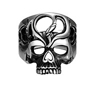 Punk Vintage Stainless Steel Silver Skull Men Finger Ring Jewelry Titanium Steel Men Jewelry