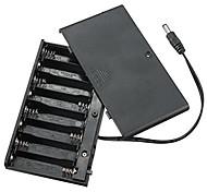 aa interruttore 8 del coperchio con il caso di batteria a 12V dc testa