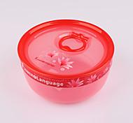 BPA libre de contenedores de plástico con tapa de almacenamiento de alimentos