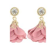 Women Jewelry Colorful Flower Drop Earrings
