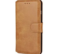 Luxury Solid color PU Leather Flip Case with Magnetic Snap and Card Slot for iPhone 7/iPhone 7 Plus