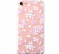 Cherry Blossoms Pattern High Quality Scrub TPU Material Soft Phone Case For iPhone 7 7 Plus 6S 6Plus